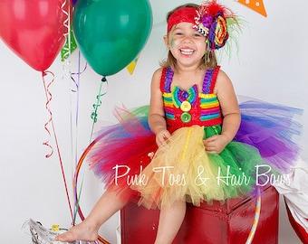 Circus tutu dress-Clown tutu dress- circus clown party birthday dress
