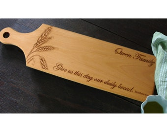 Personalized Bread Cutting Board Custom Engraved Wood Wedding Anniversary Gift Cheese Serving Chopping Board Inspirational Housewarming Gift
