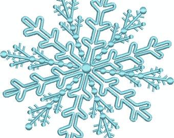 Snow Flake 6 with Bonus Snow Flake Fields Machine Embroidery design