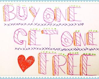 Buy One Get One Free Amigurumi Pattern