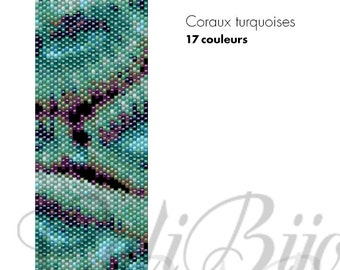 Coraux turquoises - PATTERN
