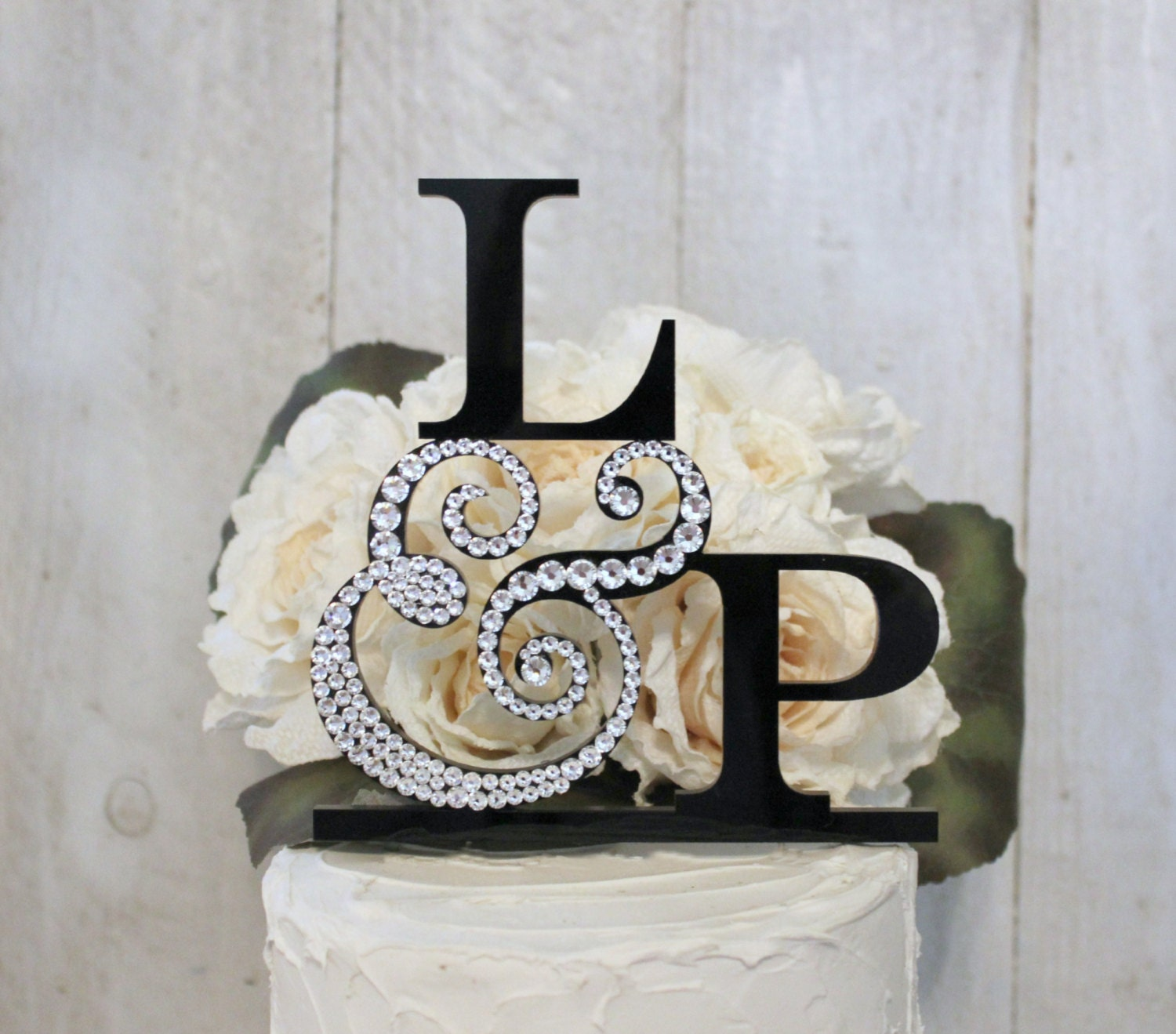Wedding Cake Topper With Initials Letter By Initialmoments