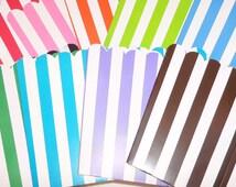 24 Striped Mini Popcorn Boxes (Pick your color)