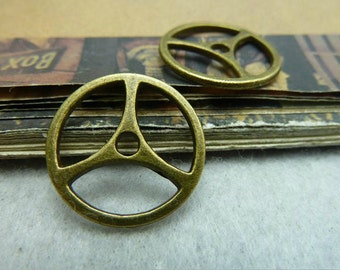 10 pcs 19mm Antique bronze gears wheels  gearwheels Watch movements connectors links Charms Pendants