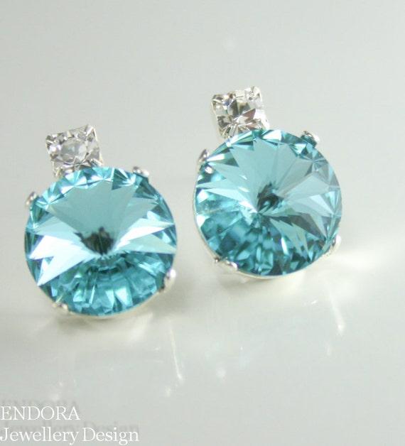 tiffany blue bridesmaid earings