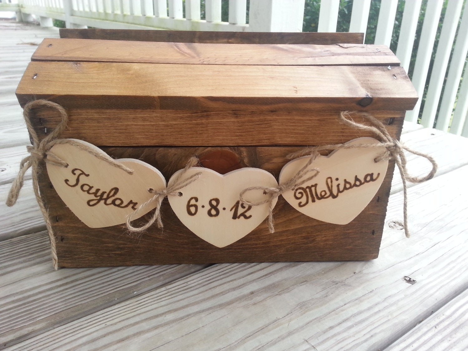 Wedding Gift Box Pinterest : Rustic wedding card box fall wedding card box country by PineNsign ...