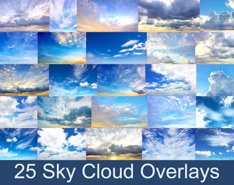 Sky Overlays - Cloud Overlays - Photography Overlays - Photoshop Overlays  - Part 1
