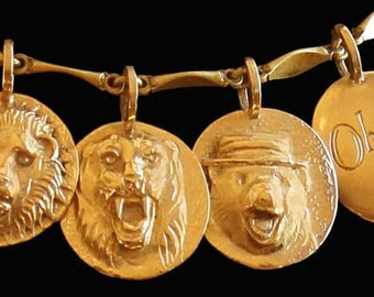 Lions and Tigers and Bears, Oh My! - Oz bracelet/necklace