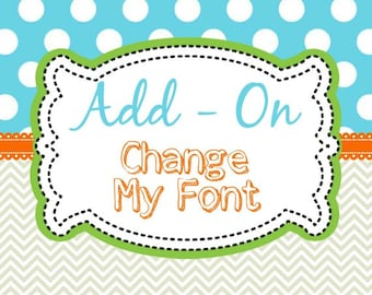 Font Change Add-On