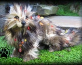Duff the leaf litter fox poseable art doll OOAK.