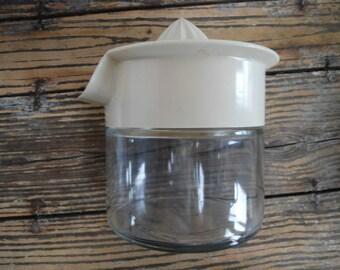 Vintage Gemco Glass Jar Juicer with Detachable Cream Juicer Top