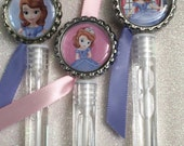 10 Sofia the First Bubble Favors, Sophia the First Birthday Party Favors, Sofia the First Birthday Decorations, Girls Birthday Party