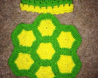 Cute newborn turtle blanket