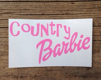 Country Barbie decal : car, laptop, phone, iPad, notebook decal