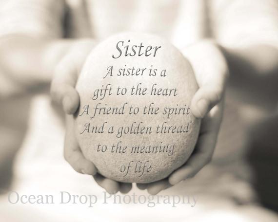 17 Best Quotes For Aunts On Pinterest: Digital File Sister Quote Sister Gift Gift For Sister Gift