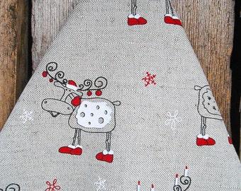 Scandinavian Christmas Towel Christmas Reindeer Towel Deer Towel Tea Towel Kitchen Towel Hand Towel Christmas Decor Christmas Gift
