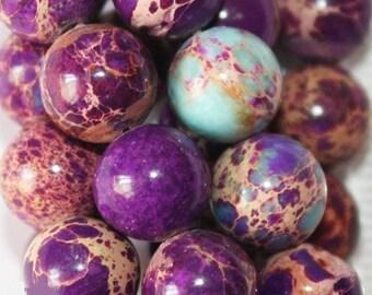 "Sea Sediment Imperial Jasper Beads - Round 8 mm Gemstone Beads - Full Strand 16"", 50 beads, item 2"