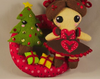 Doll / Christmas / Gifts / Kawaii / Ooak