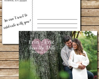 Sweet Heart Save the Date - Postcard, Magnet, or Card