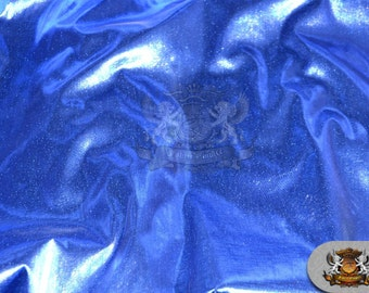 """Lame Tissue Solid Fabric ROYAL BLUE / 45"""" Wide / Sold by the yard"""