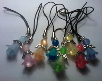 Beaded Angel Mobile Cell Phone Lanyard Charm