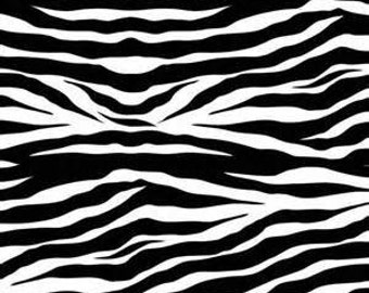 CLEARANCE - Zebra Print Black Fabric by ADORNit