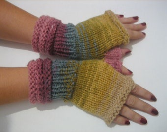 sale off 20% fingerless gloves Knitting hand warmer Knit Fingerless winter fashion, arm warmers, warm fingerless arm soft fingerless