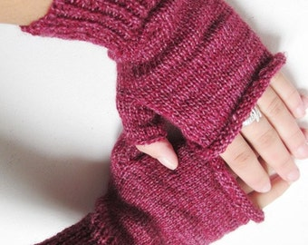 fingerless gloves,Half Gloves crocheted  Pink mixed with Red, autumn, winter accessory, handmade accessories