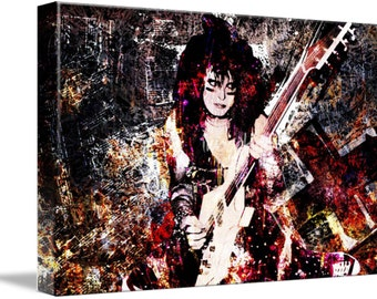 Nikki Sixx Art, Motley Crue Original Painting, Canvas Art Print