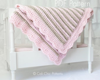 Crochet Baby Blanket PATTERN 24 - Sweet Dreams - Baby Blanket PATTERN 24 - Instant Download