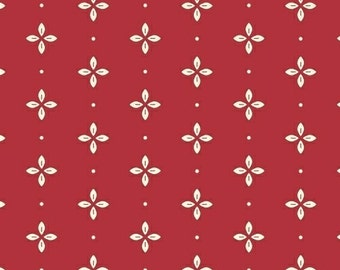 Wallflowers - Foulard in Red - Cotton Quilt Fabric - Allison Harris for Windham Fabrics - One Yard (W538)