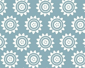 Half Yard Oh Clementine - Sun Medallions in Teal - Cotton Quilt Fabric - by Allison Harris of Cluck Cluck Sew for Windham Fabrics (W2109)