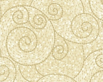 Fat Quarter Our House - Swirls in Cream - Cotton Quilt Fabric - by Tracie Lyn Huskamp for Windham Fabrics (W2141)