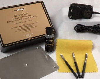 Nushine Instant Gold (Plug & Plate System) - Cyanide-free gold plating kit