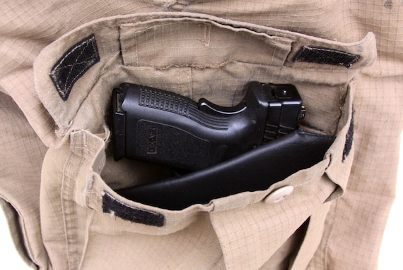 Cargo Pocket Holster Right Side Large Auto Ccw Pistol Xd