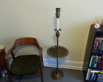 Vintage Mid Century Modern Floor Lamp With A Deco Brass