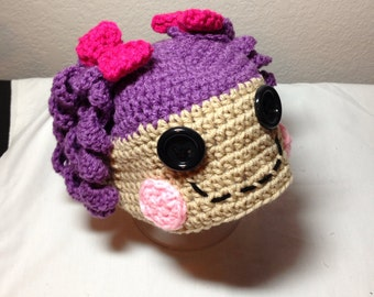 Crochet newborn through adult LaLaLoopsy any color combination hat photography prop