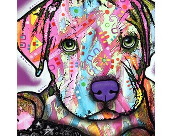 Baby Pit Bull Dog Dean Russo Pop Art Wall Decal #44808