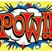 Pow Comic Book Sound Effect Wall Decal #40819