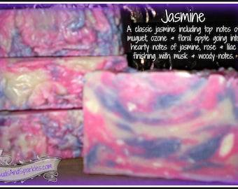 Jasmine - Rustic Suds Natural - Organic Goat Milk Triple Butter Soap Bar - 5-6oz. Each