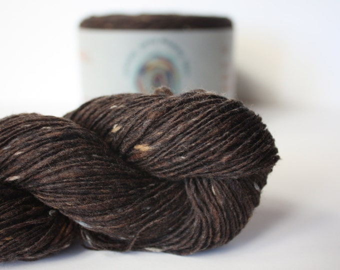 Spinning Yarns Weaving Tales - Tirchonaill 513 Chocolate 100% Merino for Knitting, Crochet, Warp & Weft
