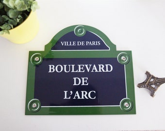 """French enamel street sign of Paris 12"""" x 10"""" * Made to order * / Authentic Parisian sign / Enamel plaque for home decoration or gift"""