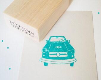 Handmade stamp. Car