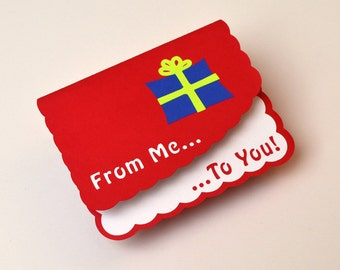 Pop-Up Birthday Card - From Me To You! Red Color