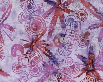 Anthology Fabrics Bali Batik 10220 Light Purple Branch Circle Yardage