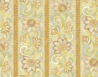 RJR Yuko Hasegawa Claridge Manor 1471 01 Metallic Border Gold by the Yard