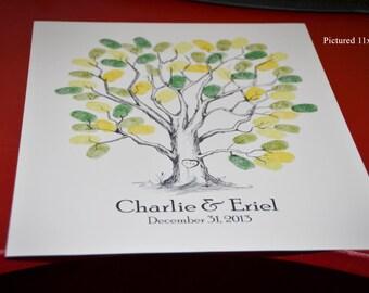 ThumbPrint Fingerprint  Signature Wedding Tree Guest Book Alternative / Gift / Poster