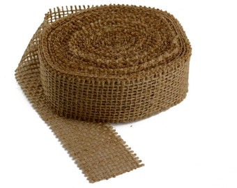 "10 Yard, 1.5"" Natural Burlap Ribbon Roll (Frayed Edges)"