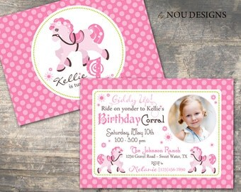 Sweet Pony Birthday Invitation- Printable File