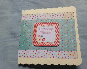 Birthday Wishes, Birthday Card, Spots Birthday Card, Dots Birthday Card, Birthday Boy Card, Birthday Girl, Spots and Dots, Colour Spots Card